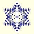 Download free STL files Random fractal snowflake in BlocksCAD, arpruss