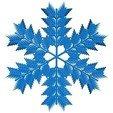 Free 3D model Randomized leafy snowflake, arpruss