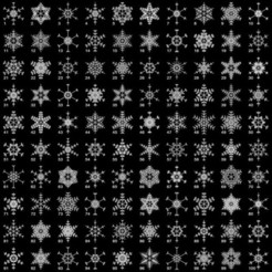 Download free STL files Random fractal snowflake in BlocksCAD, arpruss