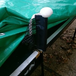 Download free 3D printer designs Ping pong net post topper to protect tarps, arpruss