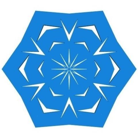 20eef1103122a4a47ae050a90dd32fa5_display_large.jpg Télécharger fichier STL gratuit Flocon de neige kirigami aléatoire dans BlocksCAD • Plan pour impression 3D, arpruss