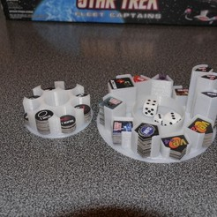 Free STL file Star Trek Fleet Captains token holders, arpruss
