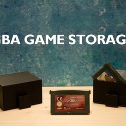 Download free 3D printer templates GBA Game Storage, stylesuxx