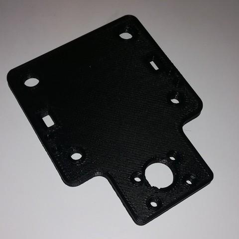Free 3D printer designs TEVO Tarantula stock X-Carriage (Hotend mount), stylesuxx
