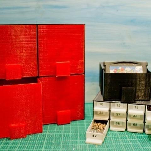 Descargar Modelos 3D para imprimir gratis Caja de almacenamiento personalizable con cajones, stylesuxx