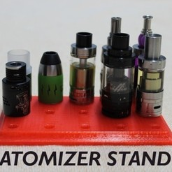Download free STL file Customizable Atomizer Stand, stylesuxx