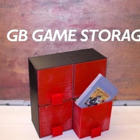 Imprimir en 3D gratis Almacenamiento de juegos clásicos de GB, stylesuxx