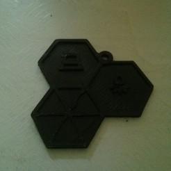 Download free 3D printer designs CCCamp15 Keychain, stylesuxx