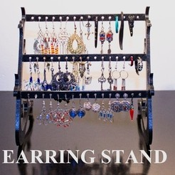 Free 3D printer files Customizable Earring Stand, stylesuxx