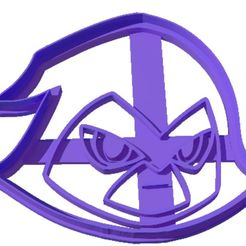 Sin título-2.jpg Download STL file TEEN TITANS GO - RAVEN - YOUNG TITANS - COOKIE CUTTER • Template to 3D print, ArteGrafico