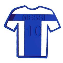Camiseta.jpg Download STL file COOKIE - CUTTER - MESSI - SHIRT - T-SHIRT - CUTTER • 3D printer template, ArteGrafico