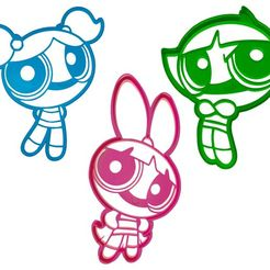 5.jpg Télécharger fichier STL COOKIE - CUTTER - POWERPUFF GIRLS - PACK X3- SUPER POWERFUL GIRLS - CUTTER • Design imprimable en 3D, ArteGrafico