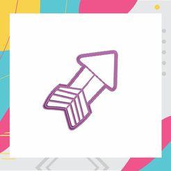3.jpg Télécharger fichier STL FLÈCHE - EMPORTE-PIÈCE - FLÈCHE - COUPE • Modèle imprimable en 3D, ArteGrafico