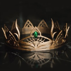Download free 3D printer designs Fantasy Crown - Tiara, tilbe