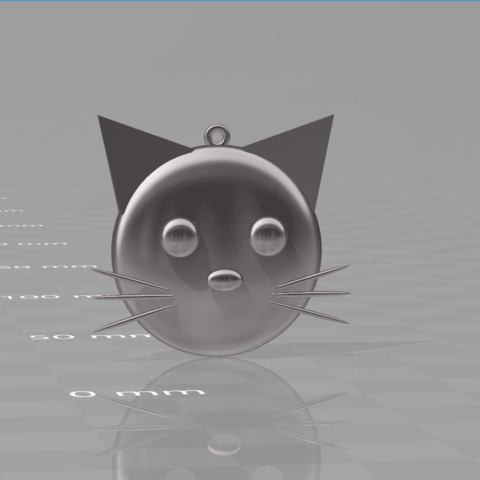 Download 3D print files CAT PEDANT, blackygoldcat