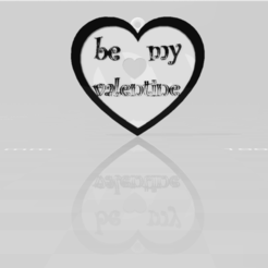 Download 3D printer designs BE MY VALENTINE heart pedant, blackygoldcat