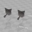 3D printer files CUTE CAT EARRINGS, blackygoldcat
