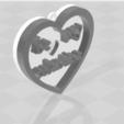 3D printing model BE MY VALENTINE heart pedant, blackygoldcat