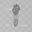3D printing model ANATOMICAL HEART MARKBOOK, blackygoldcat