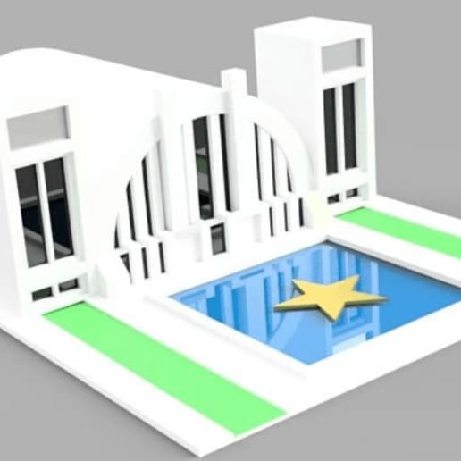 Download 3D printer templates hall of justice, jscz994jsc