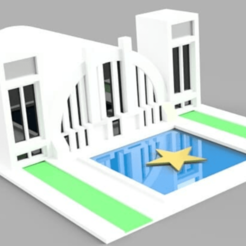 Download 3D printer templates hall of justice, jscz994jsc