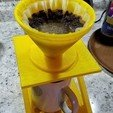 Free 3D printer designs Coffee Pour Over Stand with Drip Tray, SuperSteve