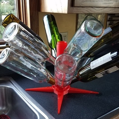 Download free 3D printing files Wine Bottle Dryer Rack Dowel