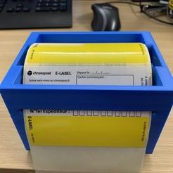 IMG_2203.jpg Télécharger fichier STL SUPPORT ROULEAU ETIQUETTES de 106mm • Modèle pour imprimante 3D, llcreation