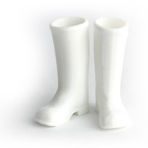 MAKIES_Wellies_White_display_large.jpg Download free STL file Makies Wellington Boots • Model to 3D print, Makies