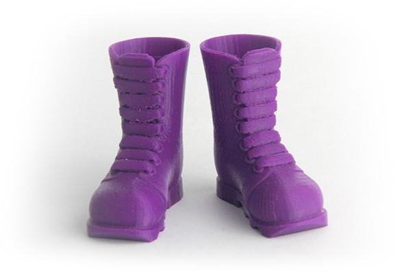 MAKIES_IndustrialBoots_Purple_display_large.jpg Download free STL file Makies Industrial Boots • 3D print model, Makies