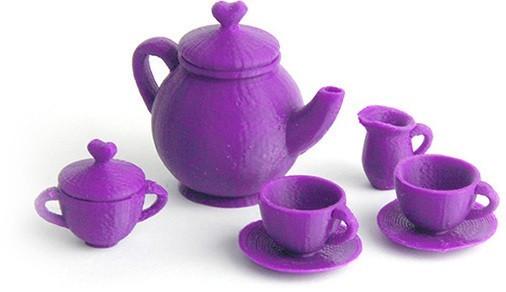 MAKIES_TeaSet_Purple_display_large.jpg Download free STL file Makies Tea Set • 3D printable design, Makies