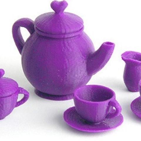 Télécharger STL gratuit Service à thé Makies, Makies