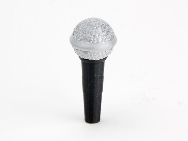 MAKIES_Microphone_BlackSilver_display_large.jpg Télécharger fichier STL gratuit Makies Microphone • Objet imprimable en 3D, Makies
