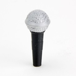 MAKIES_Microphone_BlackSilver_display_large.jpg Download free STL file Makies Microphone • 3D printable object, Makies