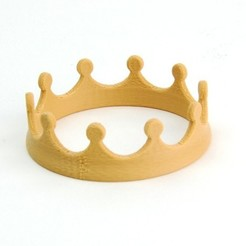 MAKIES_Crown_Beige_display_large.jpg Download free STL file Makies Crown • 3D print object, Makies
