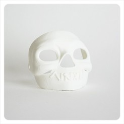 Free 3D print files Makies Spooky Skull Mask, Makies