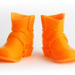 MAKIES_CowboyBoots_Orange_display_large.jpg Télécharger fichier STL gratuit Makies - Bottes de cowboy • Design pour impression 3D, Makies
