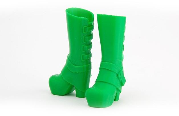 MAKIES_GlamBoots_Green_display_large.jpg Download free STL file Makies Glam Boots • 3D print template, Makies