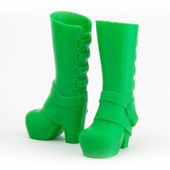MAKIES_GlamBoots_Green_display_large.jpg Download free STL file Makies Glam Boots • 3D print template, Makies