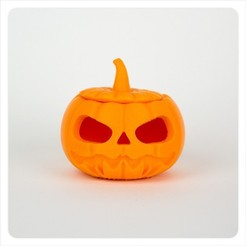 MAKIES_Jack_O_Lantern_Squeezed_Orange_display_large.jpg Télécharger fichier STL gratuit Lanterne Makies Jack-O-Lantern • Plan pour imprimante 3D, Makies