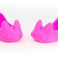 MAKIES_BunnySlippers_Pink_display_large.jpg Download free STL file Makies Bunny Slippers • 3D print model, Makies