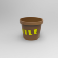 untitled.96.png Download free STL file words planter: smile, amor / planter • 3D printable template, allv