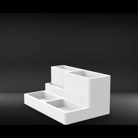 untitled.85.png Download free STL file desktop organizer / pen holder • 3D print object, allv