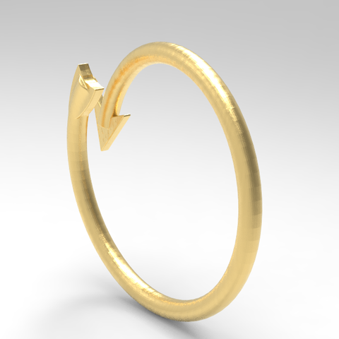 Descargar STL anillo de flecha / arrow ring, allv