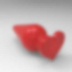 untitled.15.png Download free STL file heart anal plug • 3D printable design, allv