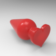 Download 3D print files heart anal plug, allv