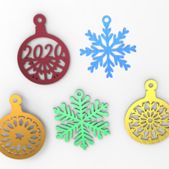 Download free 3D printer templates Christmas decorations, allv
