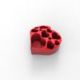 Download free STL files HEART PEN HOLDER, allv