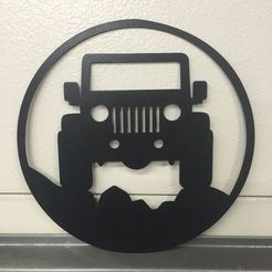 Download free 3D printer templates jeep wall art, allv