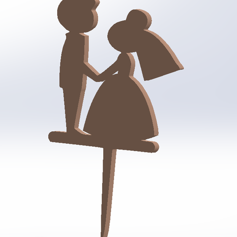 Download free 3D printer templates cake bride and groom, allv